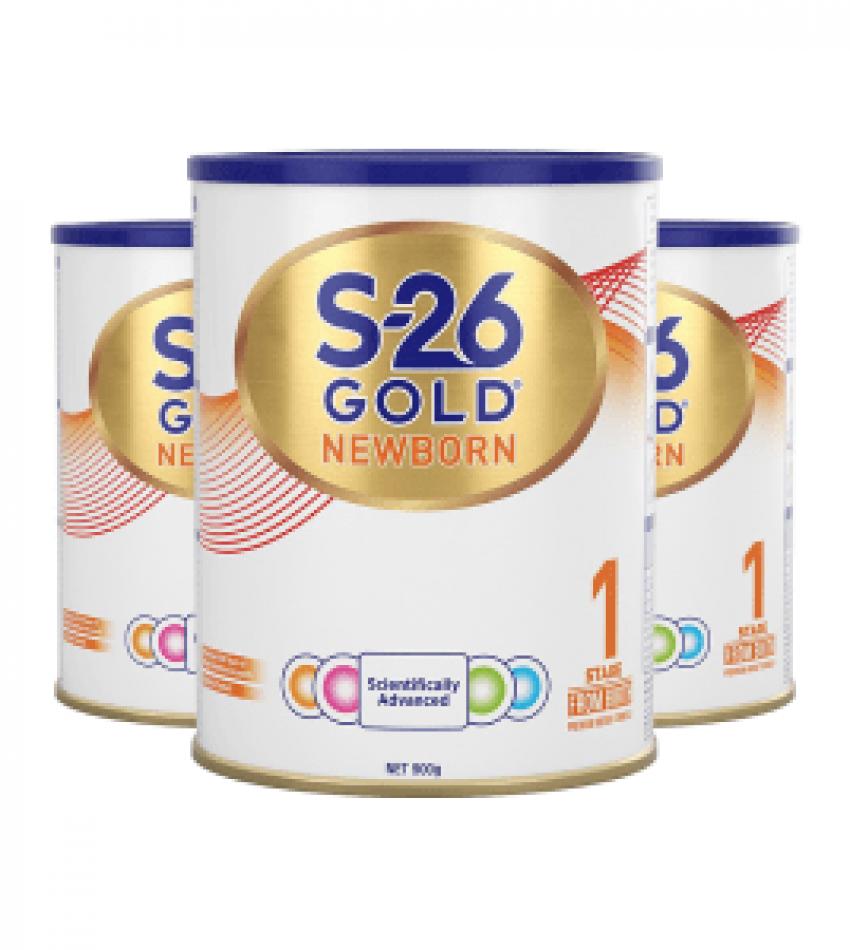 【包邮】 S26惠氏 金装婴幼儿奶粉 1段*3罐 适合0–6个月宝宝(22年9月到期)