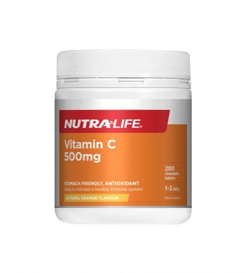 Nutralife 纽乐 维生素C咀嚼片 200片(23年9月到期)
