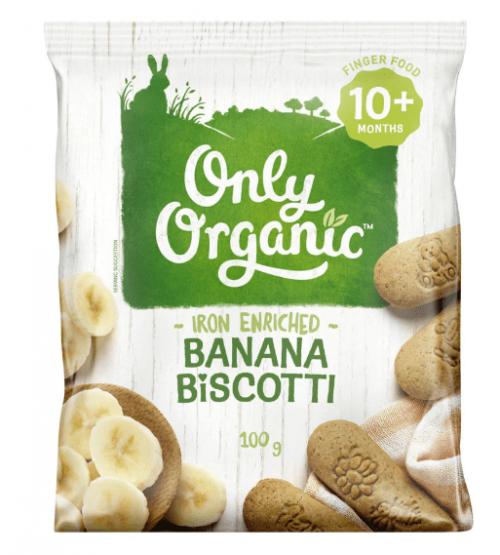 Only Organic 香蕉磨牙饼干100g(适合10个月婴儿)