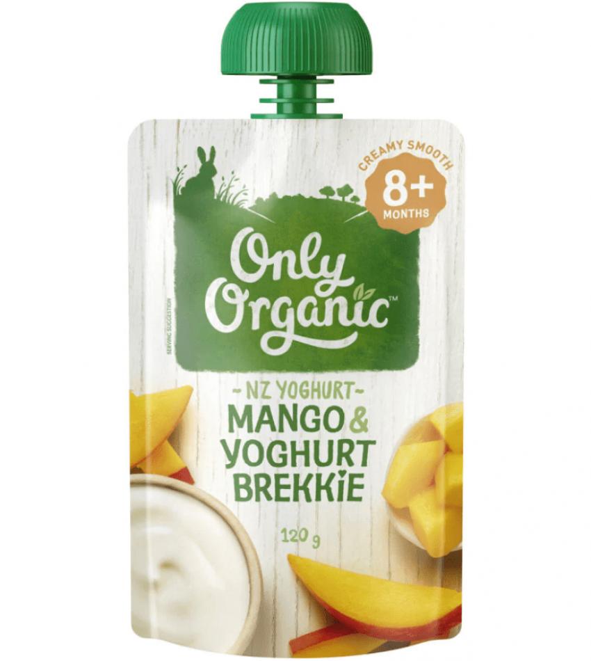 Only Organic 婴儿有机果泥 120g(适合8个月婴儿)(含芒果酸奶)