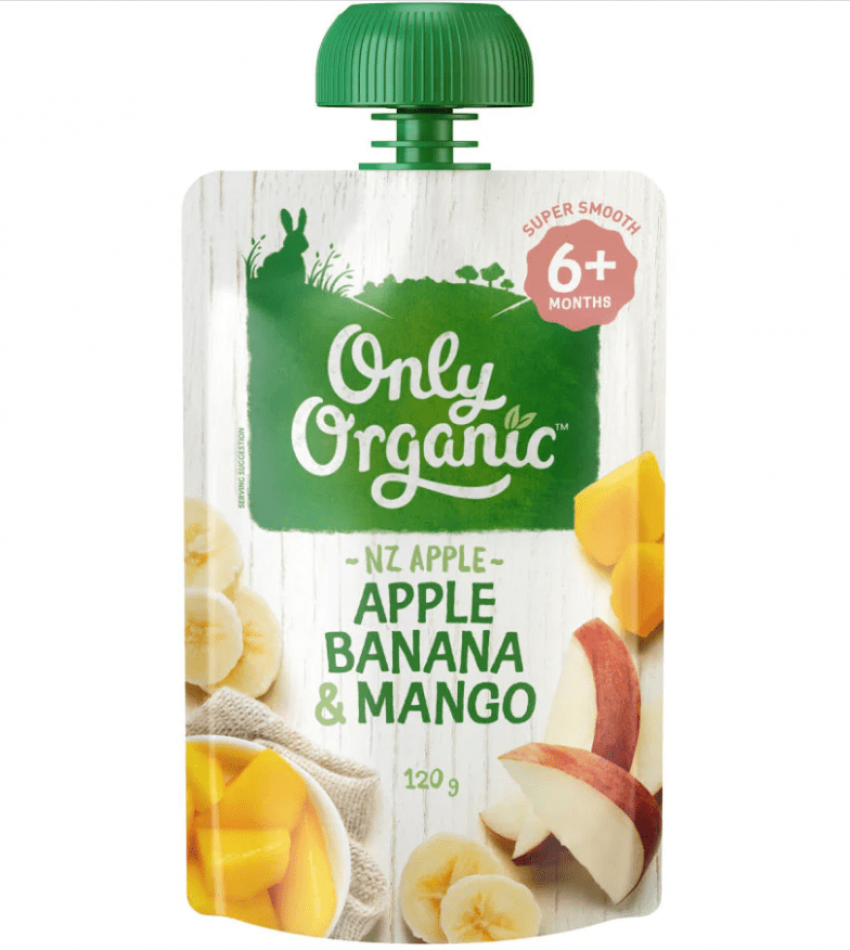 Only Organic 婴儿有机果泥 120g(适合6个月婴儿)(含苹果香蕉芒果)