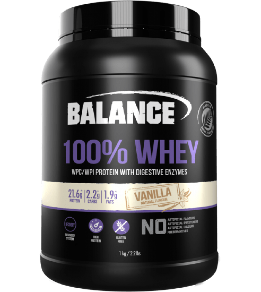 Balance 100%纯蛋白粉 1kg Balance 100% Whey Protein 1kg(香草味/草莓味/巧克力味/曲奇味 四种可选)