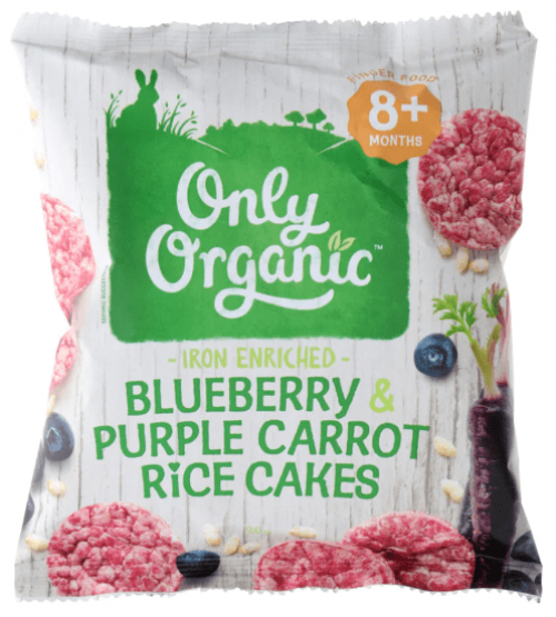 Only Organic 蓝莓紫胡萝卜米饼 20g(适合8个月婴儿)