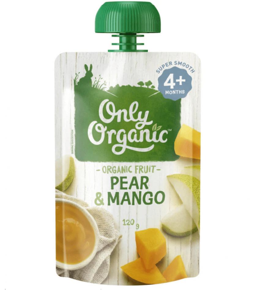 Only Organic 婴儿有机果泥 120g(适合4个月婴儿)(含梨芒果)
