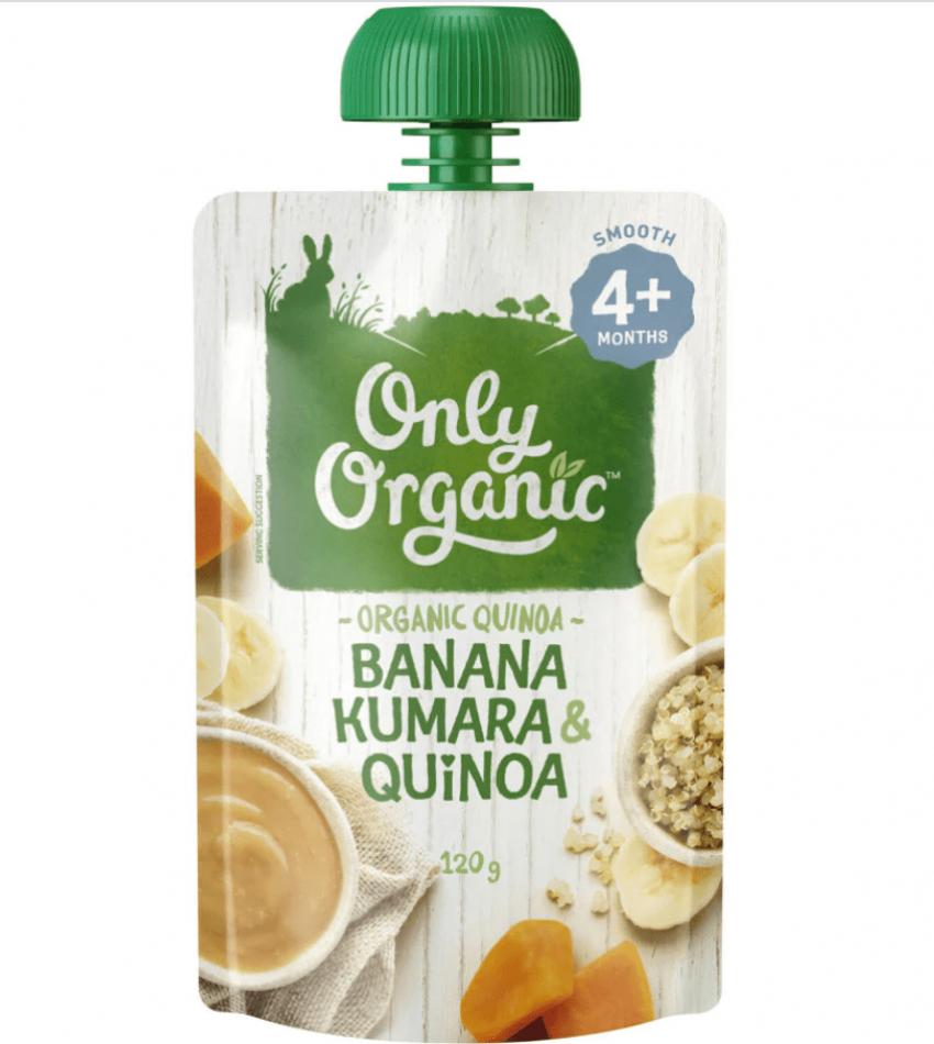 Only Organic 婴儿有机果泥 120g(适合4个月婴儿)(含香蕉红薯藜麦)