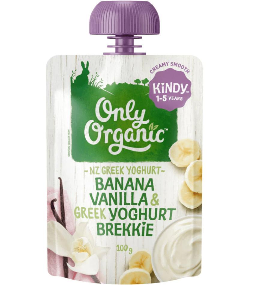 Only Organic  婴儿有机果泥 100g(适合1-5岁)(含香蕉香草酸奶)