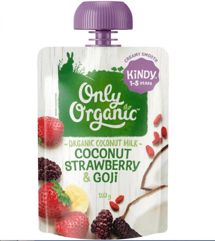 Only Organic  婴儿有机果泥 100g(适合1-5岁)(含椰子草莓枸杞)