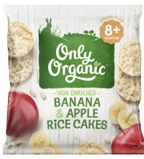 Only Organic 香蕉苹果米饼 20g(适合8个月婴儿)