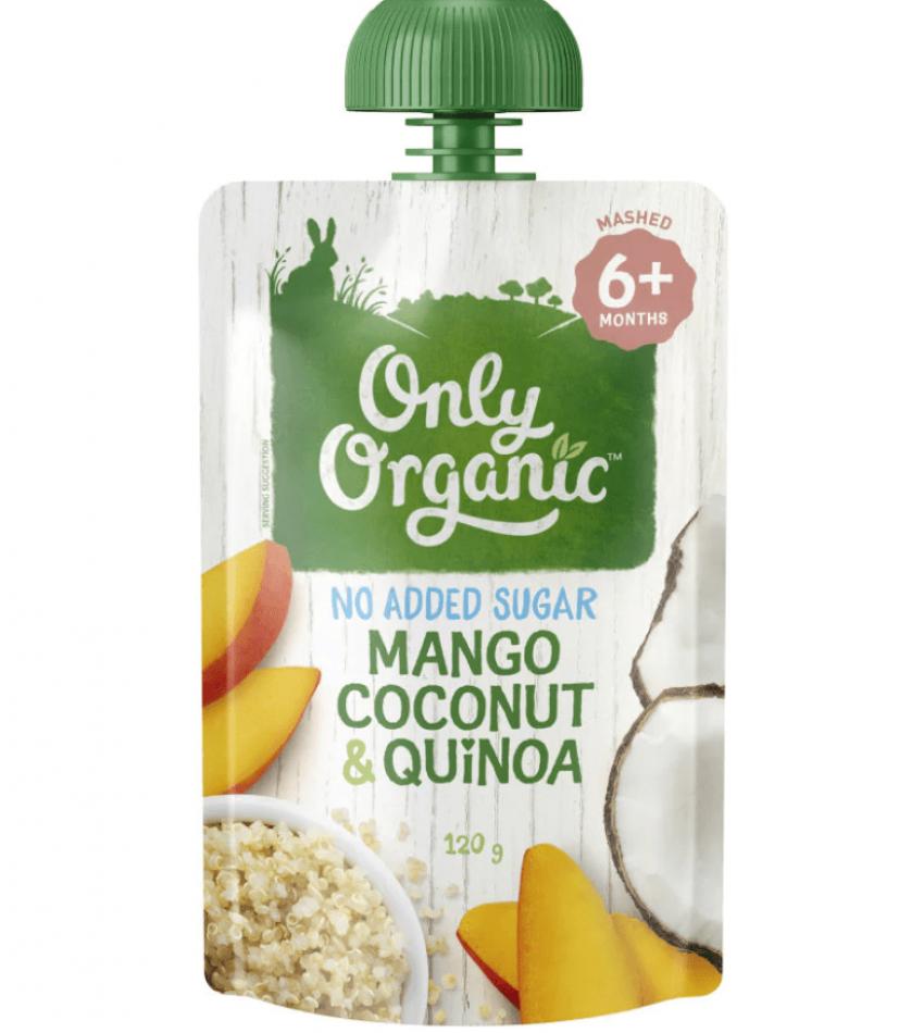 Only Organic 婴儿有机果泥 120g(适合6个月婴儿)(含芒果椰子藜麦)