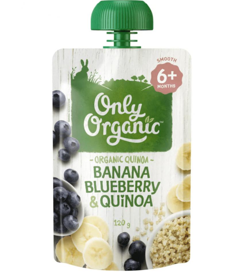Only Organic 婴儿有机果泥 120g(适合6个月婴儿)(含香蕉蓝莓藜麦)